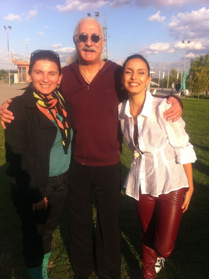With musician Etien Levi and her pop and jazz pedagogue Ralitsa Krumova in 2013